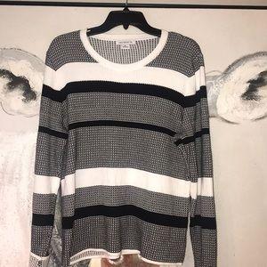 Women's Sz XL striped Liz Claiborne sweater